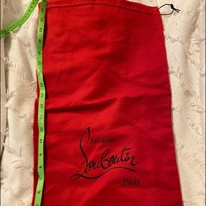 Christian Louboutin tall boot dust bag